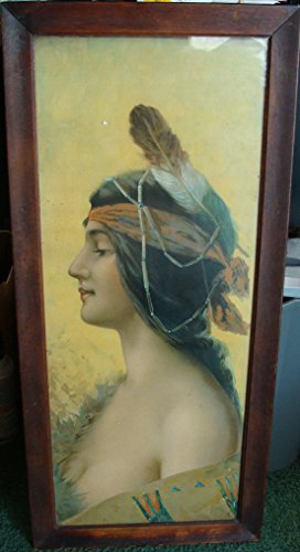 - (2) Early 1900's Watercolor Reproductions 'Indian Woman' by Raphael Beck