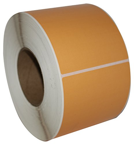 "Compulabel Direct Thermal Labels, 4""x6"", 1000 Labels Per Roll, 3"" Core, PMS148 Pastel Orange (520350)"