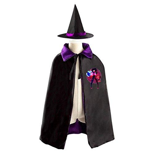Garnet Cosplay Costume (Garnet Cartoon Children Kids Halloween Cape Cosplay Party Costume Cloak Cape Witch Hat)