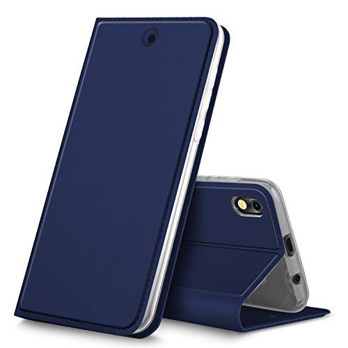 BLU Advance 5.2 case, KuGi Premium PU Leather Case,[Drop Proof] Flip Folio Protective Phone Cover for BLU Advance 5.2 smartphone(Blue)