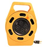 Woods 2801 Power Caddy Plus Extension Cord Reel, 25-Foot