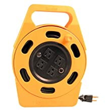 Woods 2801 25-Foot Power Caddy Plus Extension Cord Reel