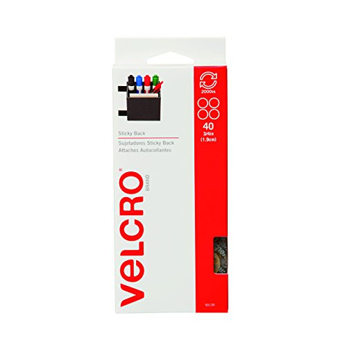 VELCRO Brand - Sticky Back Hook and Loop Fasteners | Perfect for Home or Office | 5/8in Coins | Pack of 40 | Beige