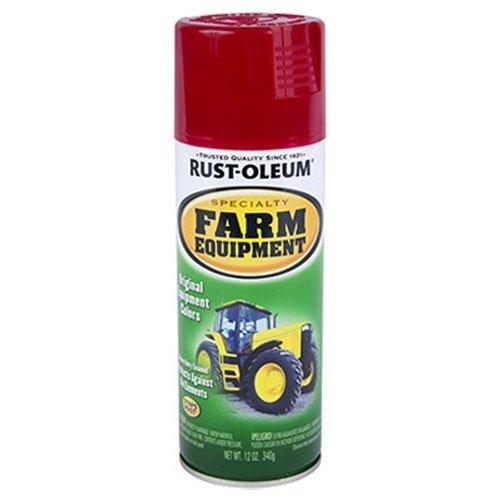(Rust-Oleum 7466830 Specialty Farm Equipment Spray Paint, 12 oz, International Red)