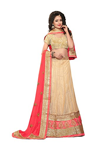 Indian Designer Partywear Ethnic Traditional Cream Lehenga Choli by The Stylam
