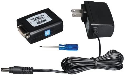 Dual Link Video Repeater 2560x1600 at 60Hz B120-000 Clear Tripp Lite DVI Extender Equalizer DVI F//F