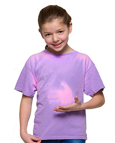 (Shadow Shifter Kids Heat Reactive Color Changing T-Shirt SMARTWEAR (YXS, Bright Purple))