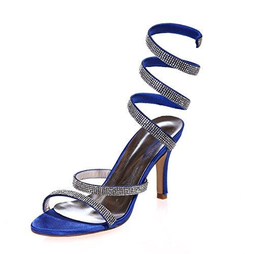 Mediados Noche Boda L De Y Más Blue Sandalias Abierta Zapatos Mujeres Colores yc Las Disponibles Fiesta Bomba Punta tzzn7q1w