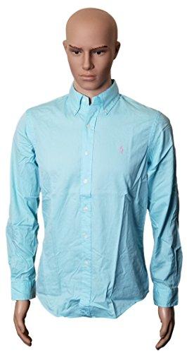 Ralph Lauren Polo Sport (Polo Ralph Lauren Mens Solid Poplin Sport Shirt (L, Light Blue))