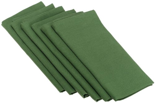 Hot Red Tabletop Buffet Bar (Pinecone Lodge Loden Green Napkins 100% Cotton, Set of 6)