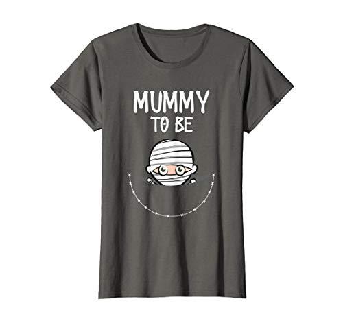 Womens Mummy To Be: Cute Women's Halloween Costume T-Shirt ()
