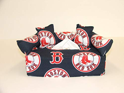 Boston Red Sox MLB Licensed fabric tissue box cover. Includes - Mlb Sox Pattern