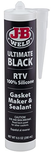 - J-B Weld 32929 Ultimate Black RTV Silicone Gasket Maker and Sealant - 9.5 oz.
