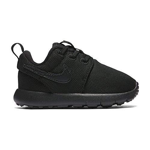 Nike Toddlers' Roshe One (TDV) Black Fabric Running Shoe 8 (Roshe Nike Shoes)