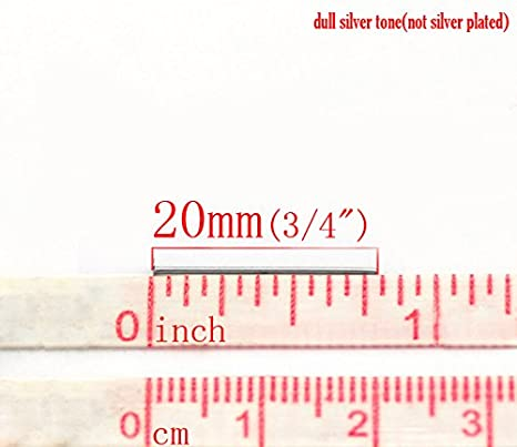 21 Gauge HOUSWEETY Stainless Steel Jewelry Finding 500pcs Silver Tone Head Pins Findings 20x0.7mm