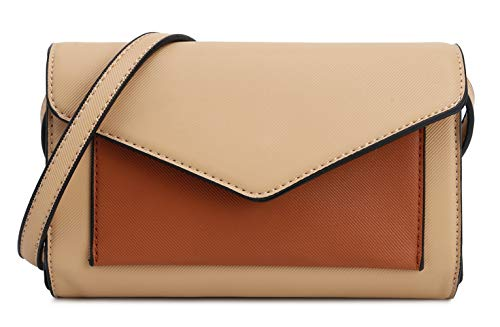Tan Clutch Envelope Brown Jane Crossbody Women's Wallet Lily zwxYtO