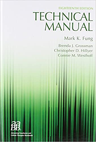 Technical manual 18th edition technical manual of the american technical manual 18th edition technical manual of the american assoc of blood banks 9781563958885 medicine health science books amazon fandeluxe Gallery