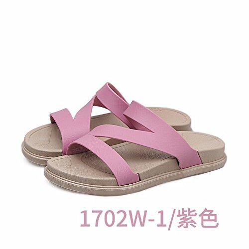 Sacar Zapatillas Nuevos Zapatos Lila La Abajo Coreana Sommer versión la Nuevo Playa rutschfeste de Moda Zapatillas española Espesor Productos Outdoor XZ Moda de Dama LIUXINDA 5zqgwT5