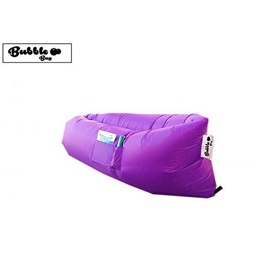 Hamaca hinchable Violet + bolsa de transporte Sofa de aire ...