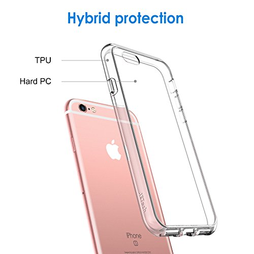 JETech Case for iPhone 6 and iPhone 6s, Shock-Absorption Bumper Cover, Anti-Scratch Clear Back (HD Clear)