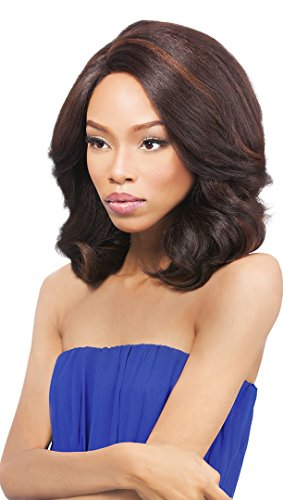 [Outre Lace L Parting Lace Front Wig PERM YAKI 14 Inch - 1B] (Perm Wigs)