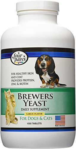 Price comparison product image Four Paws Brewers Yeast Garlic Flavored Dog and Cat Tablets ,  1000 Count
