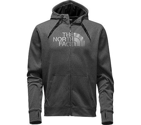 The North Face Surgent Half Dome Full Zip Hoodie Men's TNF Dark Grey Heather/TNF Black Small
