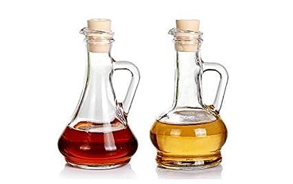 """Pasabahce 88107 – 2ER Set aceite y vinagre botella con tapón de plástico """""""