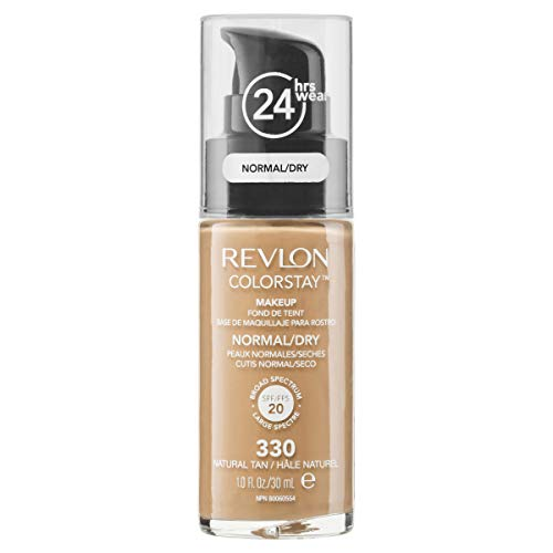 Revlon Colorstay SPF 20 Makeup Foundation for Normal/Dry Skin, Natural Tan, 1 Ounce