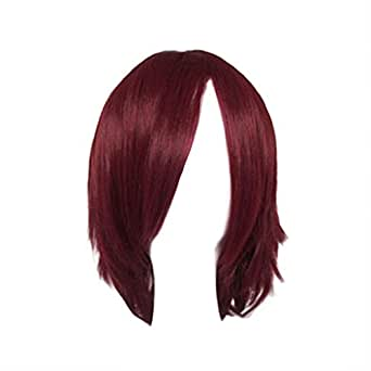 Dream2reality Cosplay_D.gray-man_Lavi Exorcist_bottom curl_40cm_dark red_kanekalon wig
