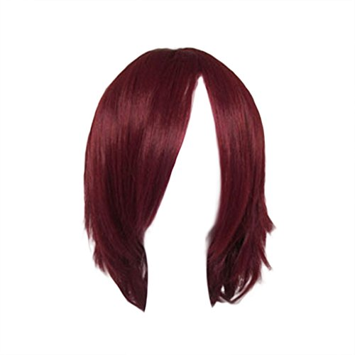 [Dream2reality Cosplay_D.gray-man_Lavi Exorcist_bottom curl_40cm_dark red_kanekalon wig] (Lavi D Gray Man Cosplay Costume)