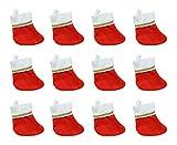 Beistle S20762AZ2 Mini Stockings, Red/White