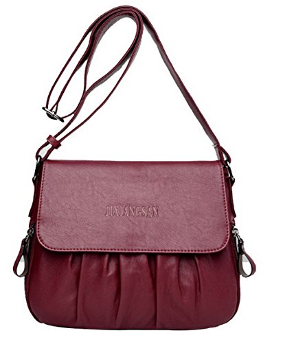 Ccaybp181578 Satchel Bags style Voguezone009 Clutch Bordeaux Tourism Women Bags Cross IF8wXq