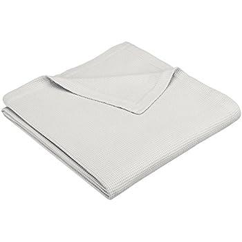 Pinzon Cotton Waffle Weave Blanket - King, Soft Grey