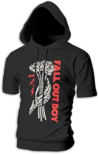 Tシャツ シャツ ティーシャツ スウェットシャツ パーカー ストレッチ メンズ 半袖 フード付き フォール アウト ボーイ スポーツtシャツ 吸汗速乾 トレーニング ジムtシャツ 通気性 黒