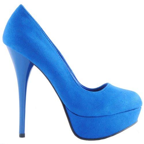 2d8920ba38 Amazon.com | Qupid NEUTRAL-01 Women's Platform Pump - Blue (6.5 ...