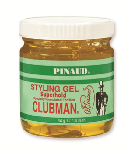 Clubman Pinaud Super Clear Superhold Styling Gel Specially Formulated for Men, 16-Ounces (Pack of 3)