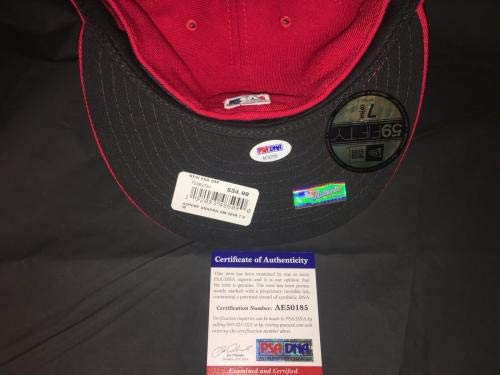 Vladimir Guerrero Signed Anaheim Angels Hat Hall Of Fame 2018 All Star PSA/DNA Certified Autographed Hats