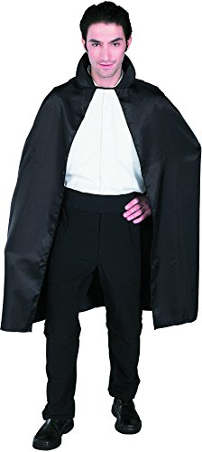 Black Satin Cape Costume Accessory