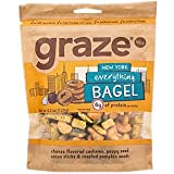 Graze Natural New York Everything Bagel Snack with Cheese Flavored Cashews, Poppy Seed Onion Sticks and Roasted Pumpkin Seeds, Tasty, Healthy, Natural Snack Mix, 4.2 Ounce Bag