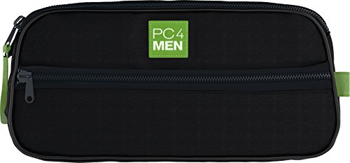 PC4Men Essential Travel Toiletry Bag for Men, Nylon Dopp Kit, Grooming and Toiletry Organizer, Multi-Compartments for Shaving Accessories and Personal Items, Dark Blue by Paula's Choice