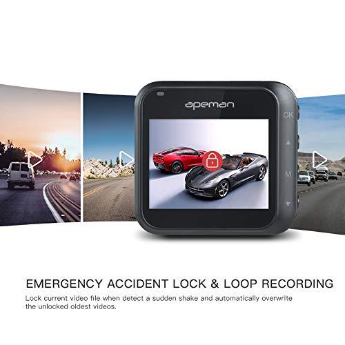 APEMAN Full Mini Driving 170° Angle, Detection, G-Sensor,