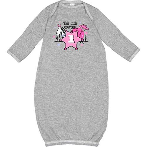 inktastic - Little Cowgirl 1st Birthday Newborn Layette Heather 366e for $<!--$22.99-->