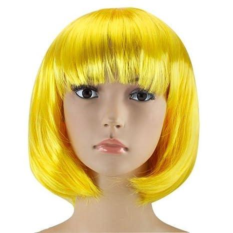 Bob Perruque Cabaret perruque Cheveux courts Charleston pour femmes Homme et Enfants Bob blonde Einheitsgr/ö/ße