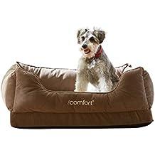 iComfort Cuddler Pet Bed with Cooling Comfort Gel Memory Foam, Medium, Tan