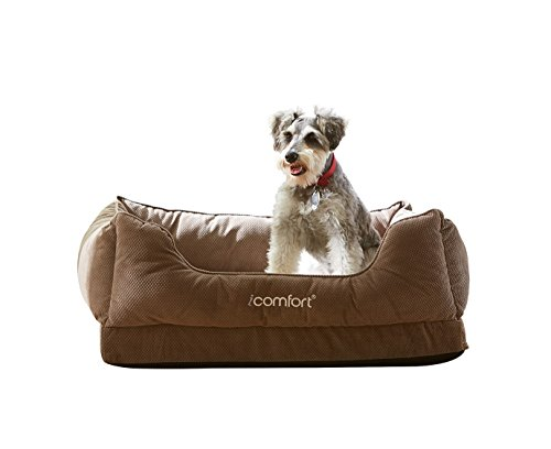 iComfort Cuddler Pet Bed with Cooling Comfort Gel Memory Foam, Medium, (Serta Memory Foam Bed)