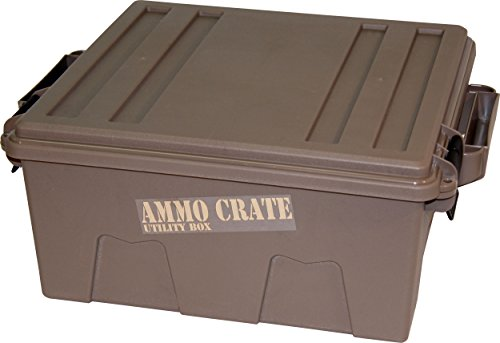 MTM ACR8-72 Ammo Crate Utility Box with 7.25' Deep, Large, Dark Earth