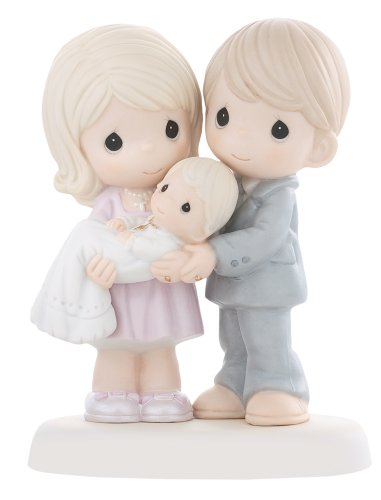 Baptism Boy Porcelain (Precious Moments, Grow In The Light Of His Love, Bisque Porcelain Figurine, 830014)