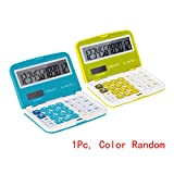 CLARA Students Foldable Calculator Portable Pocket Calculator Large LCD Display Calculator(1Pcs, Color Random)