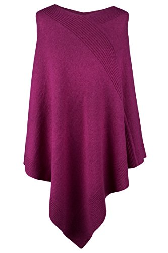 Love Cashmere Women's 100% Cashmere Poncho - Fuchsia Pink - Made in Scotland by RRP 600